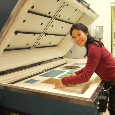 Carolyn Wang: loading a kiln