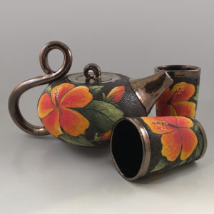 Hibiscus Tea Set (square)